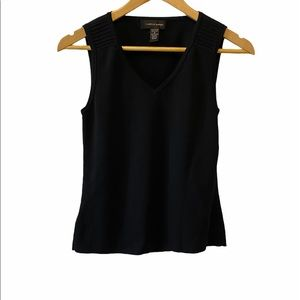 CABLE & GUAGE Black Knit Wide Strap Tank Top S